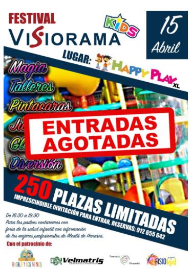 agotadas - Agotadas las entradas para el 1º Festival de Visiorama Kids